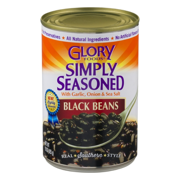 Glory Foods Black Beans Simply Seasoned with Garlic, Onion & Sea Salt