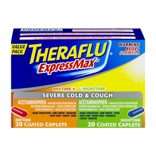 Theraflu Express Max Daytime/Nighttime Severe Cold & Cough Caplets