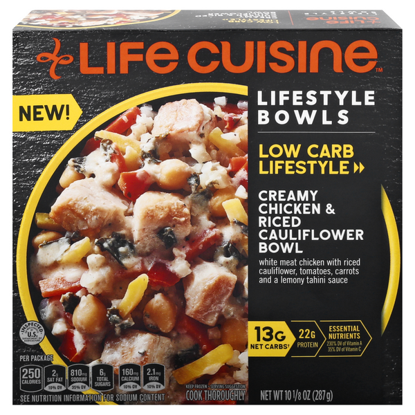 Life Cuisine Low Carb Lifestyle Bowls Creamy Chicken & Riced Cauliflower