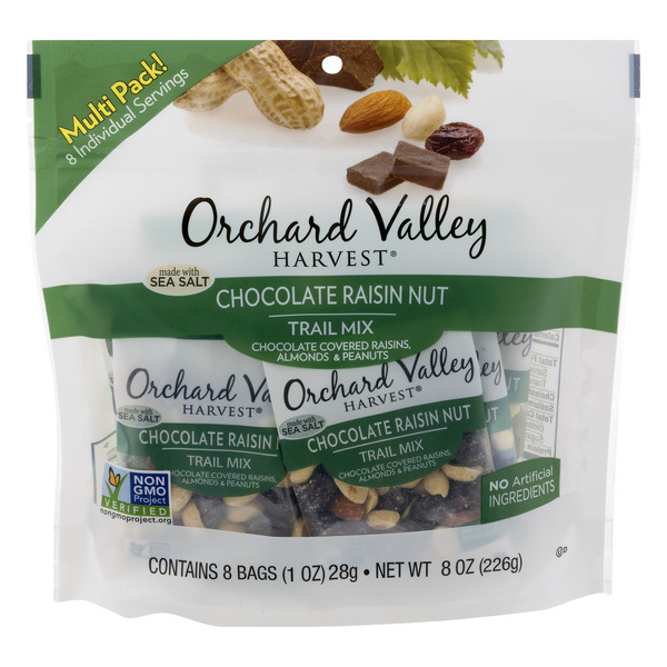 Orchard Valley Harvest Trail Mix Chocolate Raisin Nut - 8 ct