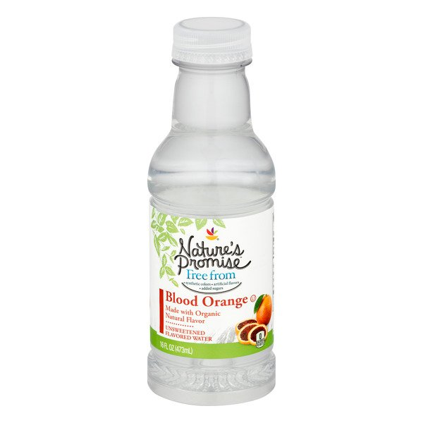 Nature's Promise Free from Blood Orange Unsweetened Flavored Water