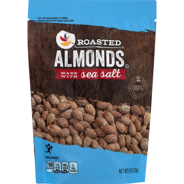 Stop & Shop Almonds Roasted Made with Sea Salt
