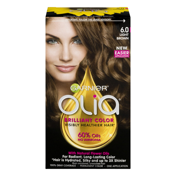 Garnier Olia Permanent Hair Color Light Brown 6.0