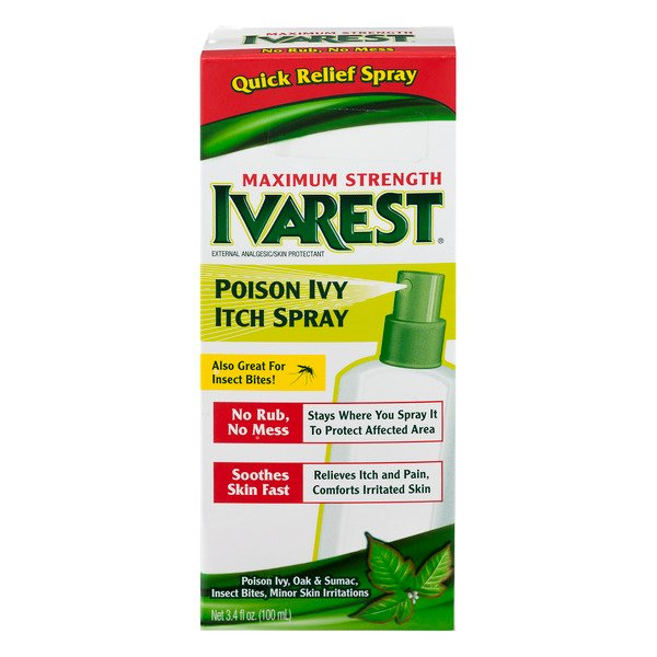 Ivarest Poison Ivy Itch Spray Maximum Strength