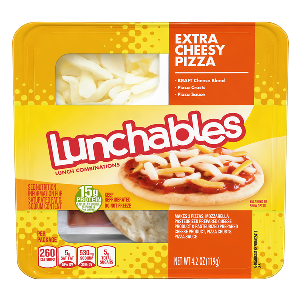 Lunchables Lunch Combinations Pizza Extra Cheesy