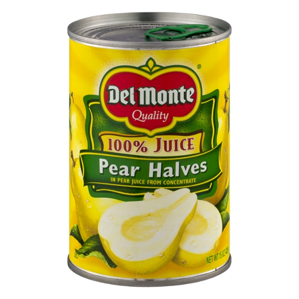 Del Monte Pear Halves in 100% Juice