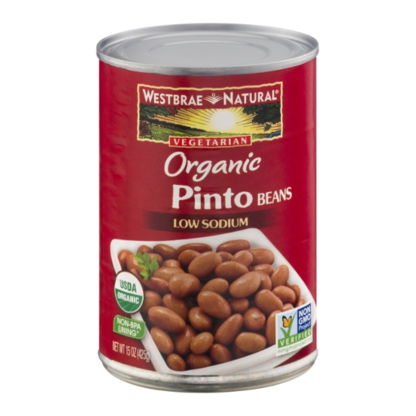 Westbrae Natural Pinto Beans Vegetarian Low Sodium Organic