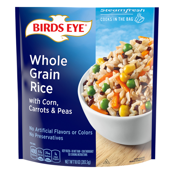 Birds Eye Steamfresh Brown & Wild Rice with Corn, Carrots & Peas