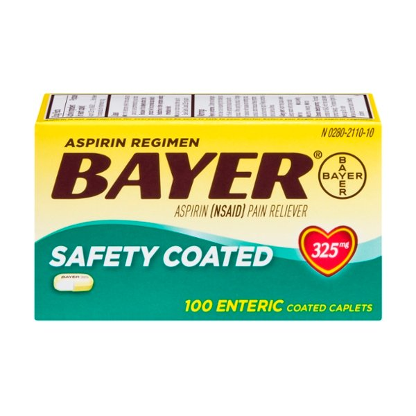Bayer Aspirin Pain Relief 325 mg Safety Coated Caplets