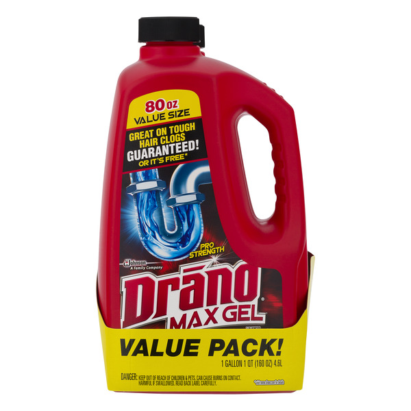 Drano Max Gel Clog Remover Value Pack - 2 ct