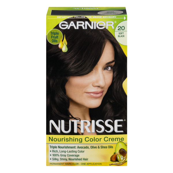 Garnier Nutrisse Nourishing Color Creme Soft Black 20