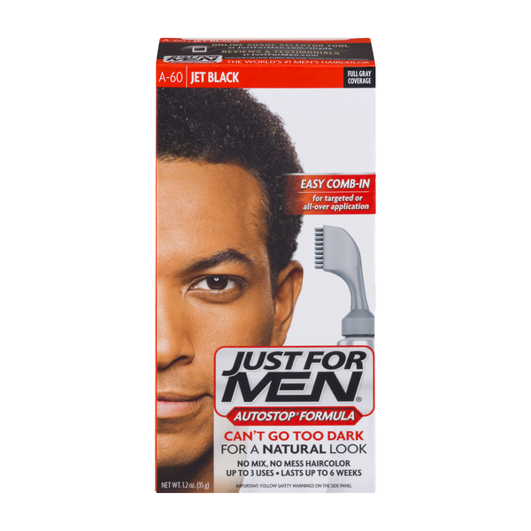 Just For Men Autostop Formula Easy Comb-In Hair Color A-60 Jet Black