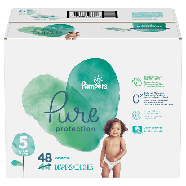 Pampers Pure Protection Size 5 Diapers 27+ lbs