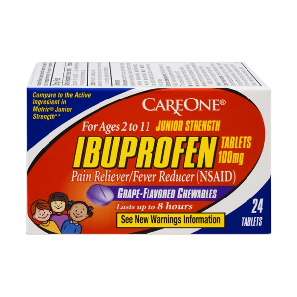 CareOne Ibuprofen Junior Strength 100 mg Tablets Chewable