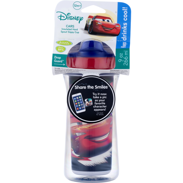 Disney Insulated Hard Spout Sippy Cup Cars 9 oz
