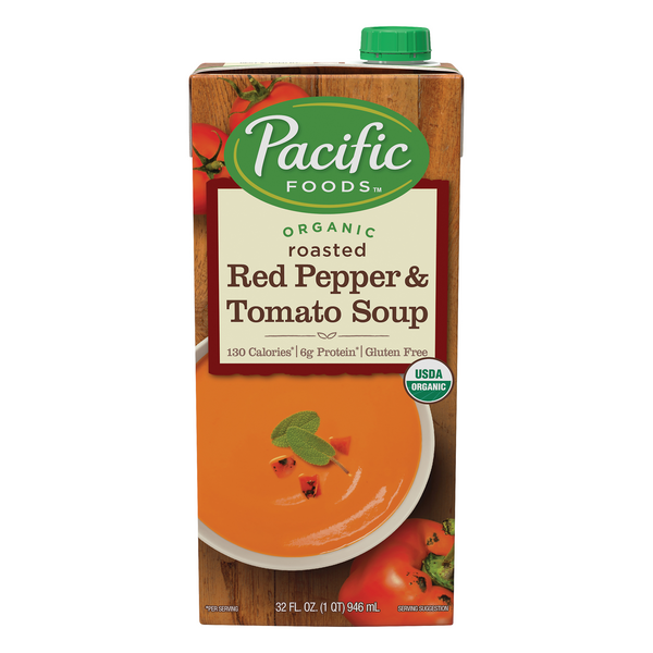 Pacific Foods Roasted Red Pepper & Tomato Soup Organic Gluten Free