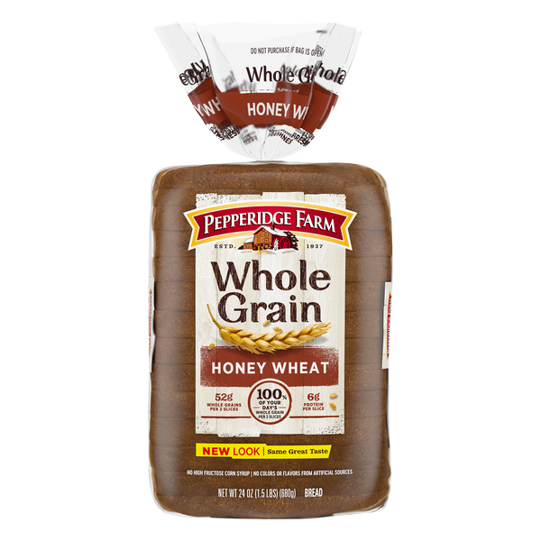 Pepperidge Farm Whole Grain Honey Wheat Bread