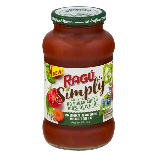 Ragu Simply Pasta Sauce Chunky Garden Vegetable No Sugar Added