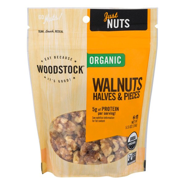 Woodstock Just Nuts Walnuts Halves & Pieces Organic