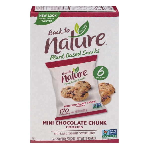 Back to Nature Cookies Chocolate Chunk Mini - 6 pk