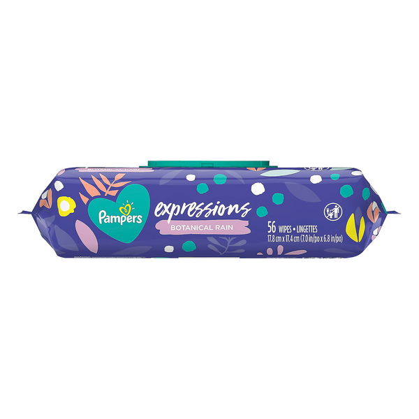 Pampers Baby Wipes Expressions Botanical Rain Scent