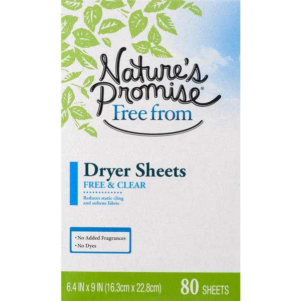 Nature's Promise Dryer Sheets Free & Clear