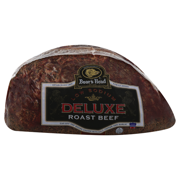 Boar's Head Deli Roast Beef Top Round Low Sodium (Shaved)