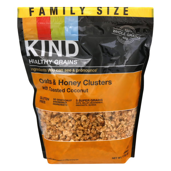 KIND Healthy Grains Granola Oats & Honey Clusters with Toasted Coconut