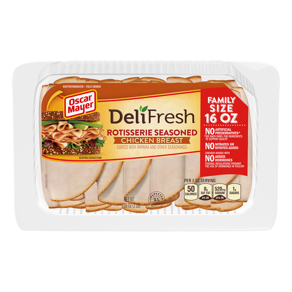 Oscar Mayer Deli Fresh Chicken Breast Rotisserie Seasoned Sliced