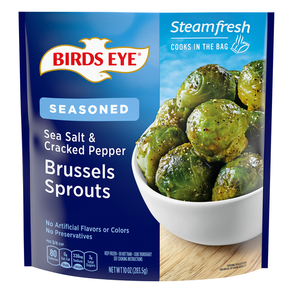 Birds Eye Steamfresh Flavor Full Brussels Sprouts Sea Salt/Cracked Pepper