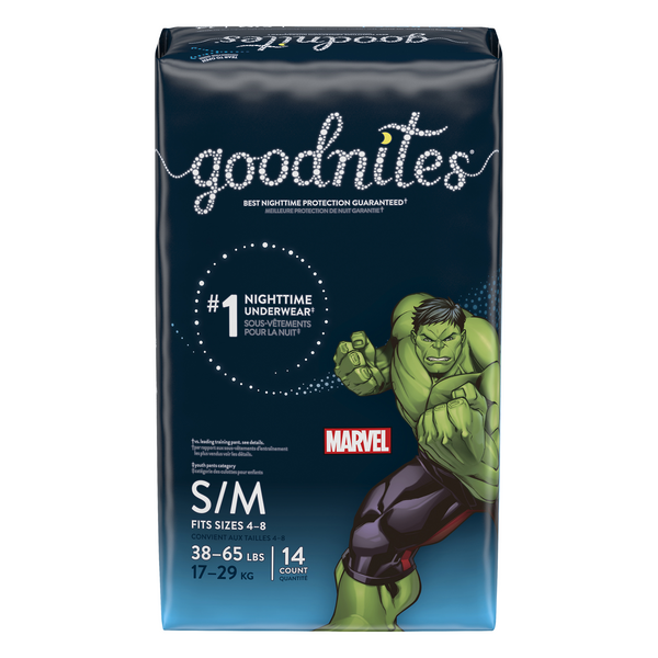 GoodNites Nighttime Underwear S/M Boys 38-65 lbs