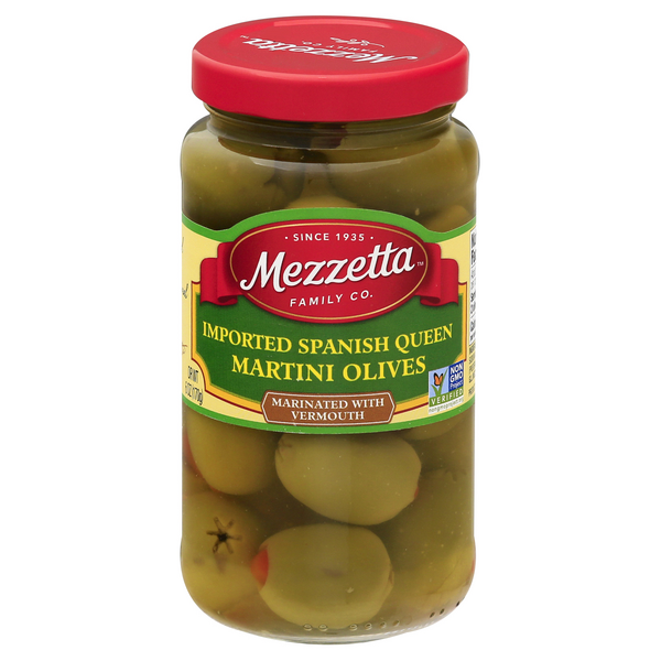 Mezzetta Imported Spanish Queen Martini Olives Marinated with Vermouth