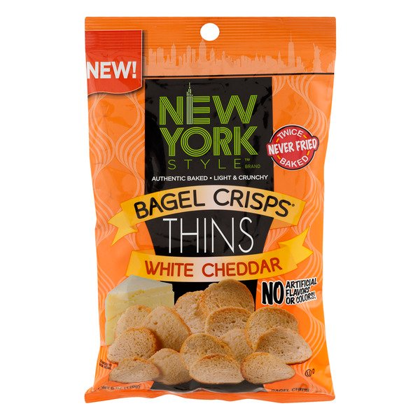 New York Style Bagel Crisps Thins White Cheddar