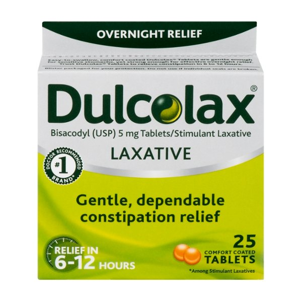 Dulcolax Laxative Overnight Relief Tablets