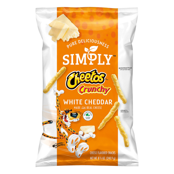 Cheetos Simply Crunchy Cheese Flavored Snacks White Cheddar