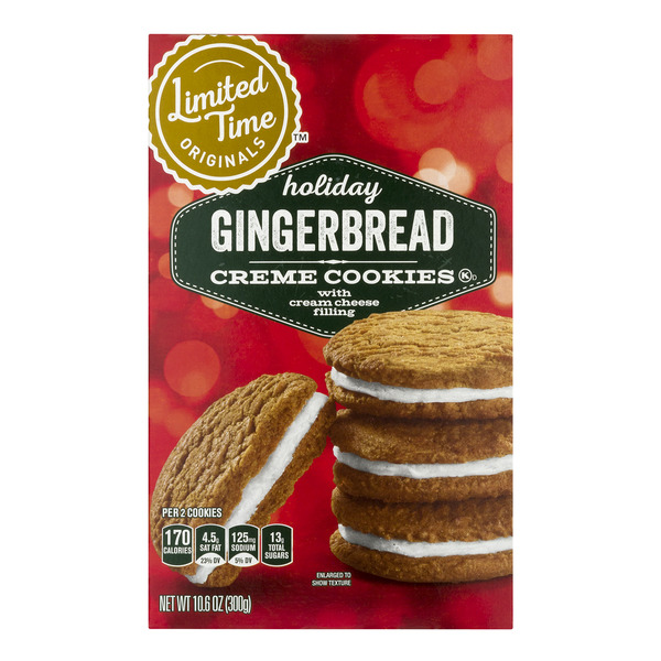 GIANT Limited Time Creme Cookies Gingerbread