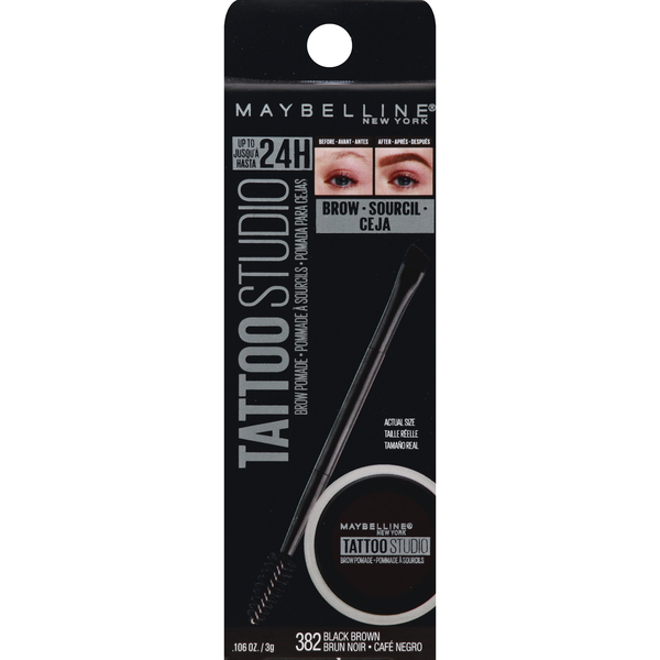 Maybelline Tattoo Studio Brow Pomade Black Brown 382