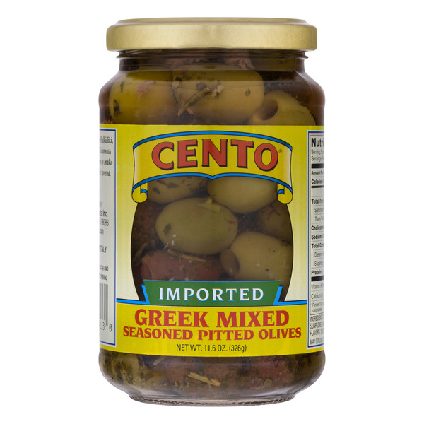 Cento Olives Greek Mixed Seasoned Pitted