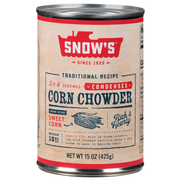 Snow's New England Corn Chowder Condensed Soup