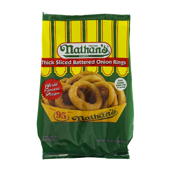 Nathan's Famous Onion Rings Thick Sliced