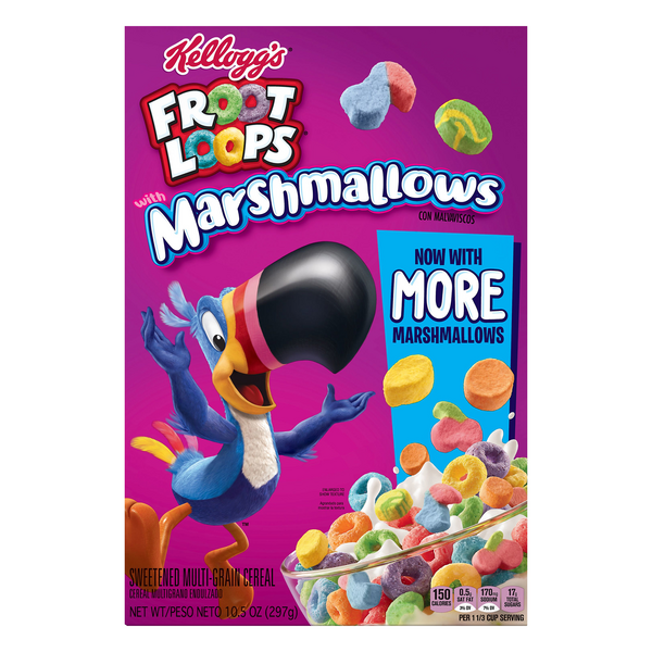 Kellogg's Froot Loops Cereal with Fruity Shaped Marshmallows