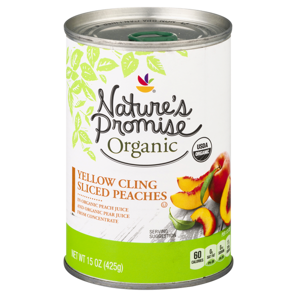 Nature's Promise Organic Peaches Sliced in Organic Juice