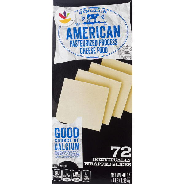 GIANT American Cheese Food White Singles - 72 ct