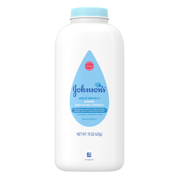 Johnson's Baby Powder Pure Cornstarch with Aloe Vera & Vitamin E