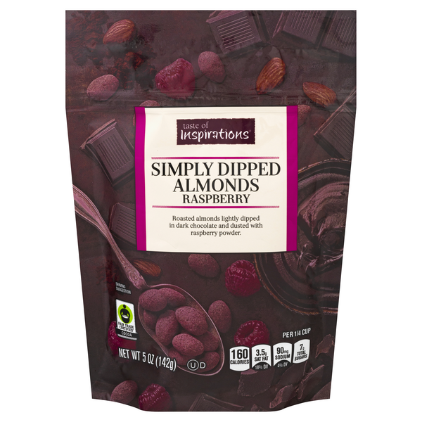 Taste of Inspirations Simply Dipped Almonds Raspberry