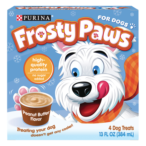 Purina Frosty Paws Treats for Dogs Peanut Butter - 4 ct Frozen