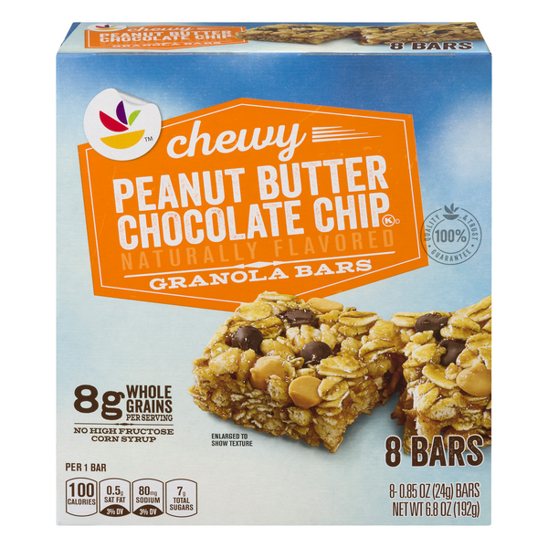 Giant Chewy Granola Bars Peanut Butter Chocolate Chip - 8 ct