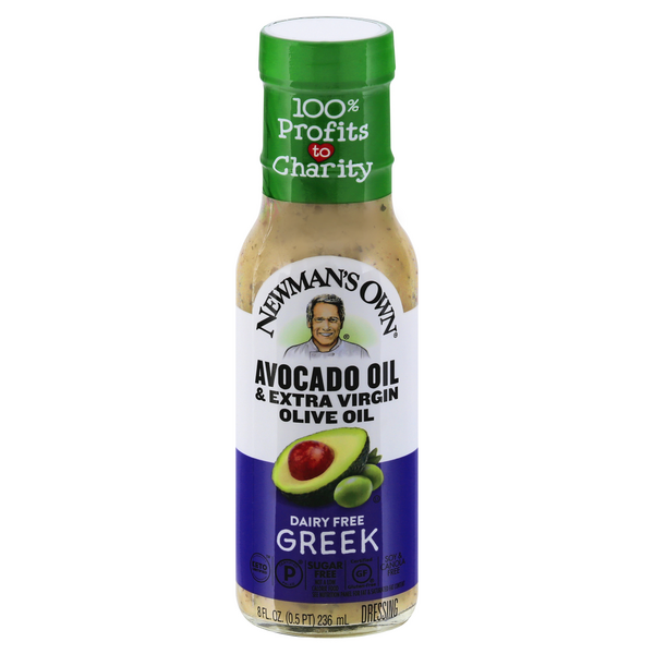 Newman's Own Avocado Oil & Extra Virgin Olive Oil Greek Dressing
