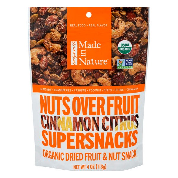 Made In Nature Dried Fruit & Nut Snack Cinnamon Citrus Organic