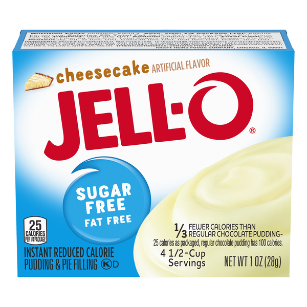 Jell-O Instant Pudding & Pie Filling Cheesecake Flavor Fat & Sugar Free